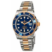 Rolex Submariner Oro Acciaio Lunetta Blu Ceramica - 116613lb