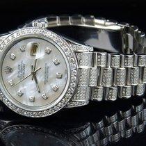 Rolex Mens Stainless Steel Rolex Datejust Presidential 36 MM...