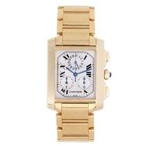 Cartier Tank Francaise Chronograph Men's Gold Quartz Watch...