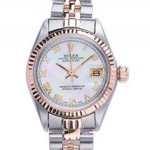 Rolex Datejust Lady Stahl Roségold Perlmutt Automatik Armband...