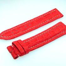 Breitling Utc Band 20mm Croco Rot Red Roja Strap Correa Für...