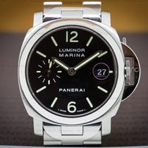 Panerai PAM050 Luminor Marina 40mm Black Dial / Bracelet (26951)