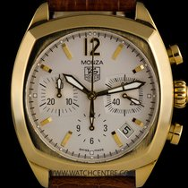 TAG Heuer Y/G Silver Dial Classic Monza B&P CR514A.FC8145