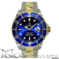 Rolex Submariner Date - Blue Dial/Bezel 18K & S. Steel