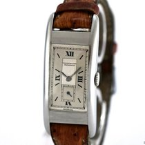 Movado Vintage Rectangular Watch Stainless Steel Bj-1930