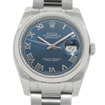 Rolex Datejust Stainless Steel & White Gold Fluted Oyster...