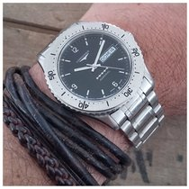 Longines ADMIRAL 5 STARS AUTOMATIC STEEL VINTAGE DIVER WATCH...