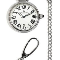 Charles-Hubert 40mm Stainless Steel Pocket Watch - Open Face -...