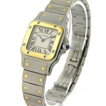 Cartier W20012C4 Santos Square Small Size - 2-Tone with Silver...
