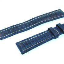 Breitling Band 18mm Croco Dunkel Blau Blue Azul Strap Für...