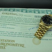 Rolex 1986 ROLEX DAY-DATE 18038 WITH ORIGINAL GLOSSY BLACK...