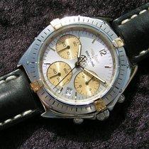 Breitling Sextant B55045 Silbernes Zifferblatt Stahl Gold