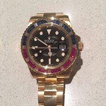 Rolex 116748 GMT Master II Yellow Gold Sapphire Diamond and...