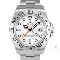 Rolex Explorer II Stainless Steel White Index Dial 24hr Bezel...