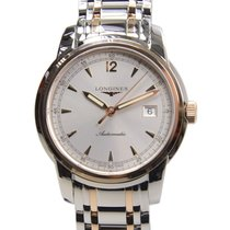 Longines Saint Imier 18k Rose Gold And Steel White Automatic...