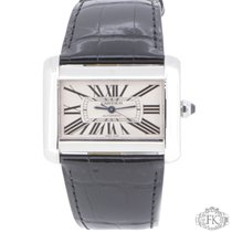 Cartier Tank Divan | Steel black leather | W6300755