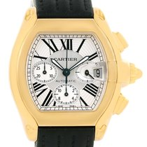 Cartier Roadster Chronograph Xl 18k Yellow Gold Mens Watch...