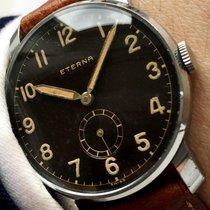 Eterna Amazing Vintage Military Eterna with black GILT dial