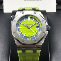 Audemars Piguet 15710ST Royal Oak Offshore Diver Lime Green [NEW]