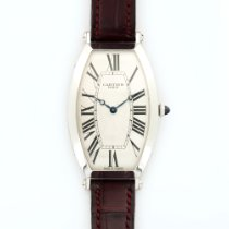Cartier Platinum Tonneau Mechanique Watch Ref. 2435