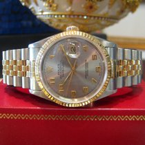 Rolex Oyster Perpetual Datejust Two Tone Yellow Gold Stainless...
