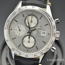 TAG Heuer Carrera Chronograph Steel Silver Dial Watch CV2017