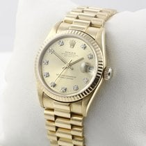 Rolex Datejust Medium 31mm 750 Gelbgold Diamantbesatz Damenuhr