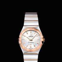 Omega Constellation quartz  27 mm Steel/Red Gold Silver Dial T