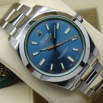 ロレックス (Rolex) Milgauss Z-Blue 116400GV Blue Dial Green Crystal...
