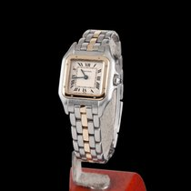 Cartier Panthere Steel and Gold Quartz Lady