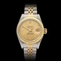Rolex Datejust Stainless Steel & 18k Yellow Gold Ladies 69173