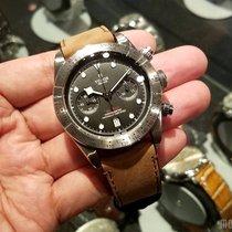 Tudor 79350 Leather Strap 2017 Heritage Black Bay Chrono 41mm
