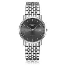 Longines Elegant Collection Automatic Stainless Steel Black...