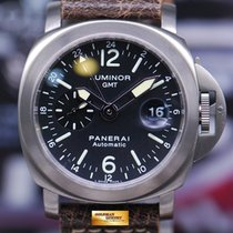 Panerai Luminor Gmt 44mm Anthracite Blue Dial Automatic Pam...