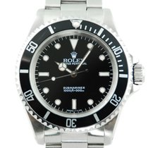 Rolex Submariner (No Date) Stainless Steel Black Dial  - 14060