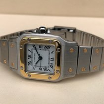 Cartier Santos Galbee Lady Gold Steel 34 x 23 mm