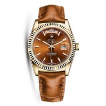 Rolex 118135 Perpetual Day-Date 18K Yellow Gold Unisex Watch