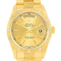 Rolex President Crown Collection 18k Yellow Gold Diamond Watch...