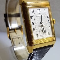 Jaeger-LeCoultre Reverso day night 18k sold gold box and papers