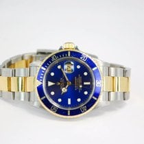 Rolex Submariner Date Two Tone 18kt Yellow Gold/SS Blue...