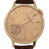 Patek Philippe Casa Becker 18k Rose Gold Brown Leather Watch
