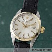 Rolex Lady Date Gold / Stahl Damenuhr Automatik Ref 6917 Mit...