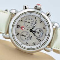 Michele Csx Chronograph Stainless Steel White Mop Dial Swiss...