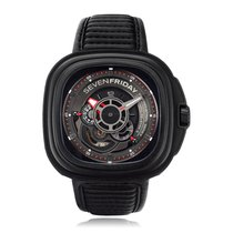 Sevenfriday P Series Automatic Steel & Carbon Black Dial...