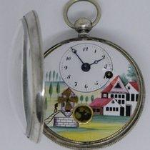 Automaton windmill verge pocket watch - ca 1820-30