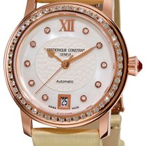 Frederique Constant Automatic RoseGold Plated Diamond Womens...
