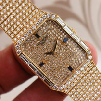 Patek Philippe 18K Yellow Gold Manual Wind PP Factory Paved...