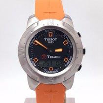 Tissot T Touch Ii Orange Strap T047.420.47.207.01 Titanium