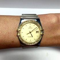 Omega Constellation 18k Yellow Gold & Ss Men's Watch...