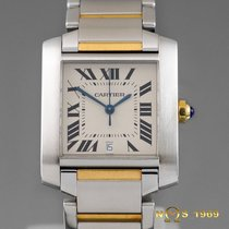 Cartier TANK FRANCAISE  Gold & Steel  28mm AUTOMATIC Ref.2302